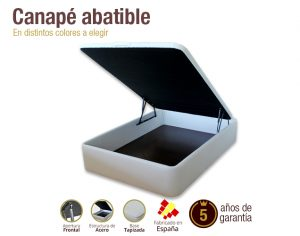 canape abatible naturconfort frontal